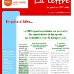 CTM – réponse au ministre – MAEDI 21 etc. : la LDS de décembre est en ligne !