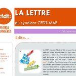 Comités hygiène, sécurité et conditions de travail – «Qui fait quoi à la CFDT-MAE ?» (part. 1) : la LDS de septembre est en ligne !