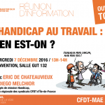 Journée Internationale du Handicap :  HMI  à Convention – mercredi 7 décembre